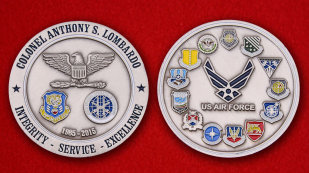 Colonel Anthony S. Lombardo US Air Force - obverse and reverse