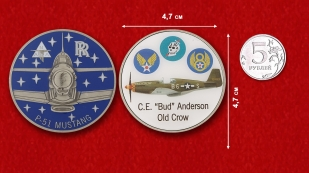 "Colonel C.E. ""Bud"" Anderson Old Crow P-51 Mustang Challenge Coin"