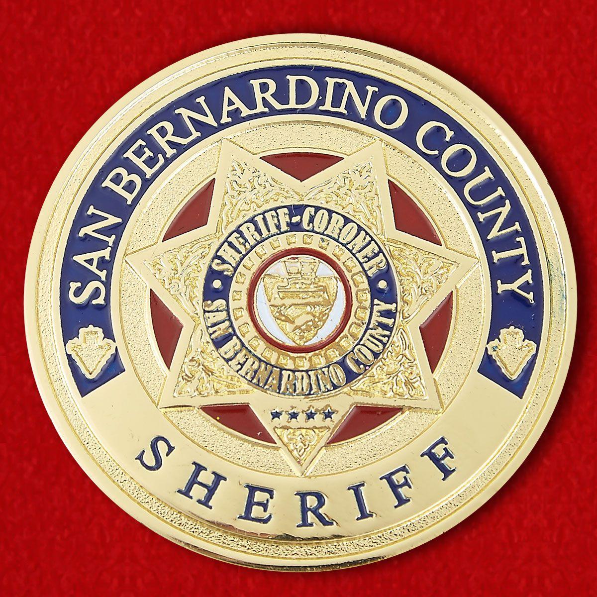 County Sheriff San - Bernardino Challenge Coin