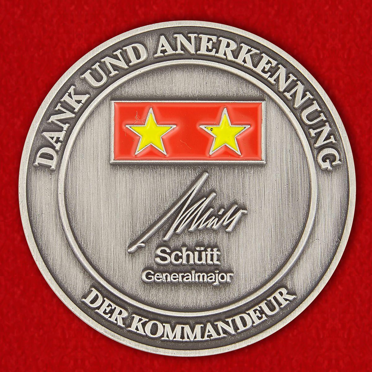 Dank und Anerkennung der Kommandeur der 10. Panzerdivision, Generalmajor Schütt Challenge Coin