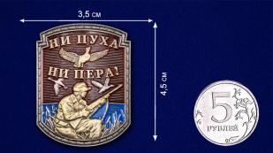 "Декоративная накладка ""Ни пуха ни пера"" - размер"