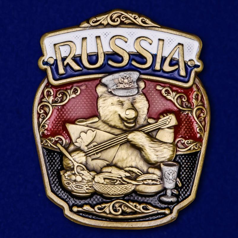 "Декоративная накладка с русским медведем ""RUSSIA"""