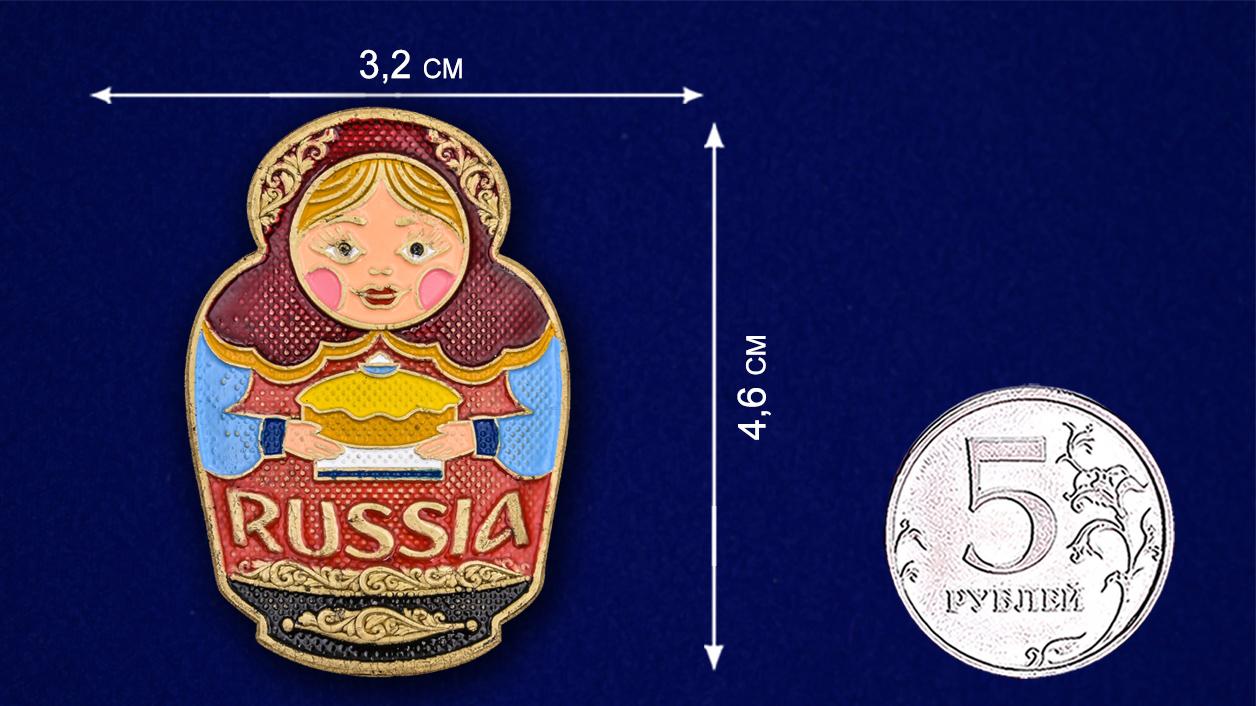 Декоративная накладка в виде матрешки - размер
