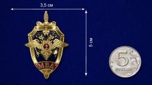 Декоративный жетон МВД - размер