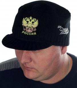 Демисезонная кепка-шапка Miller с нашивкой Герб России - заказать в подарок