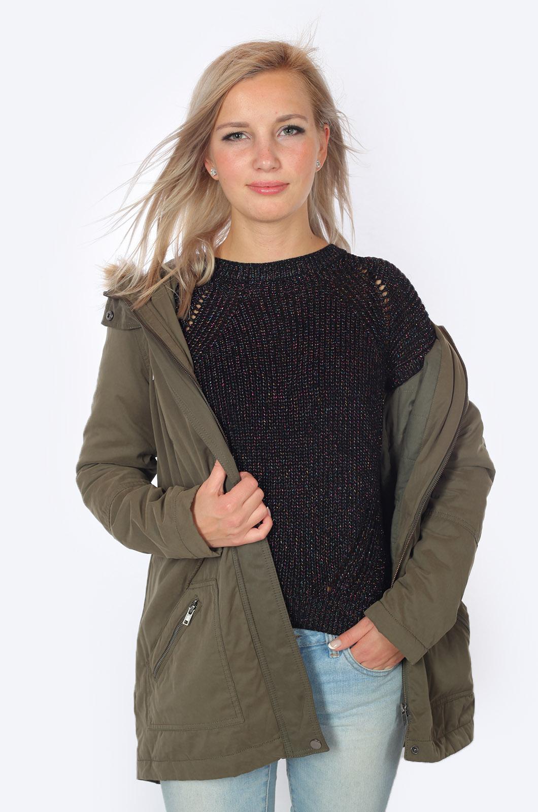 Демисезонная куртка-парка от Just Jeans (Австралия) с удобной достакой