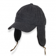 Демисезонная мужская кепка с ушками