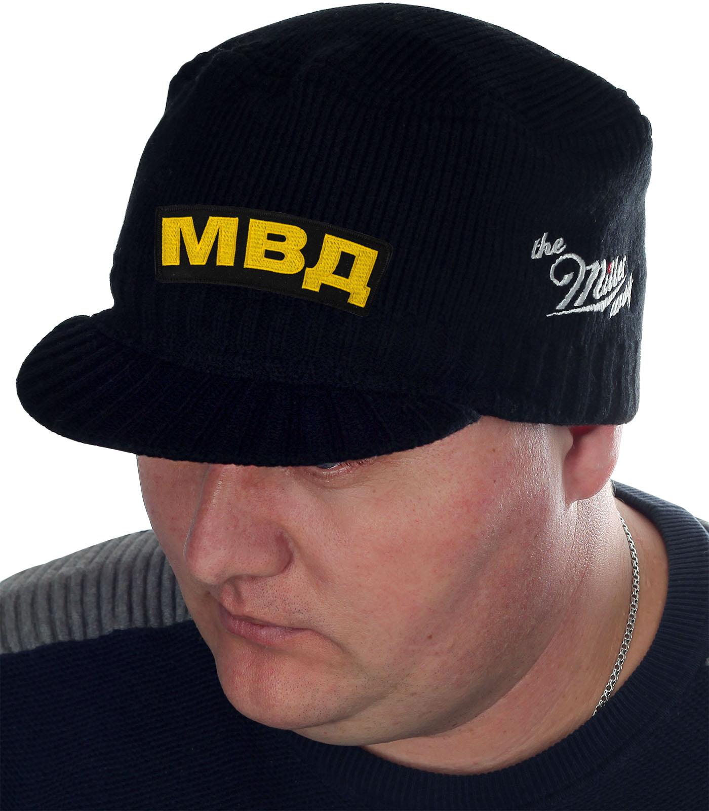 Демисезонная шапка-кепка МВД от бренда Miller - заказать в розницу