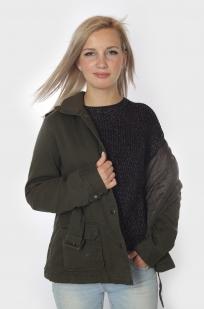 Демисезонная женская куртка-парка - стильная демисезонная модель