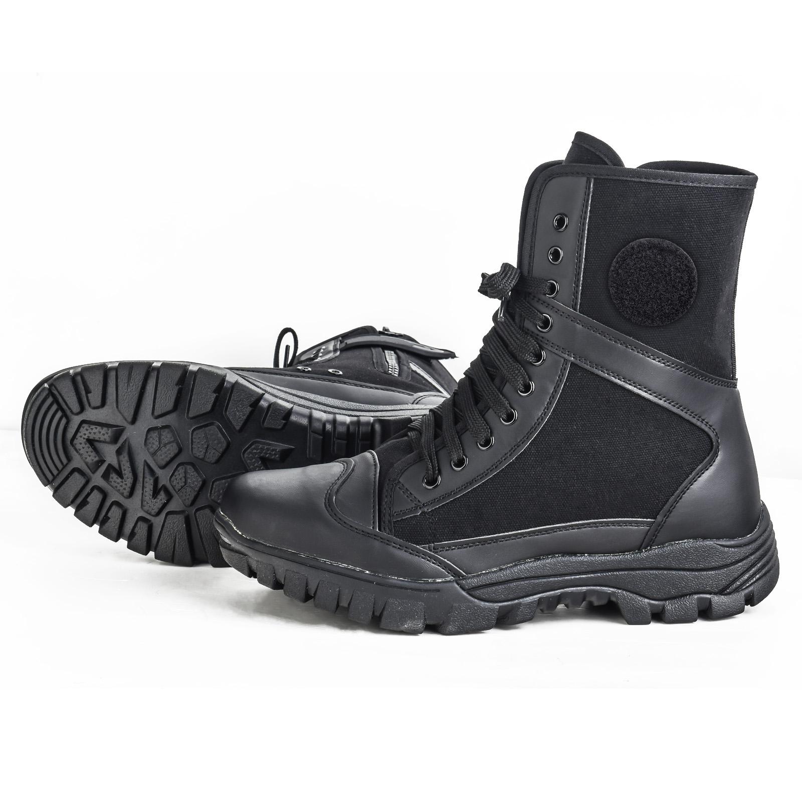 Демисезонные тактические ботинки Canvas Leather Breathable Military Tactical