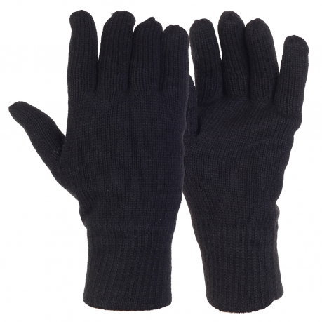 Демисезонные вязаные перчатки
