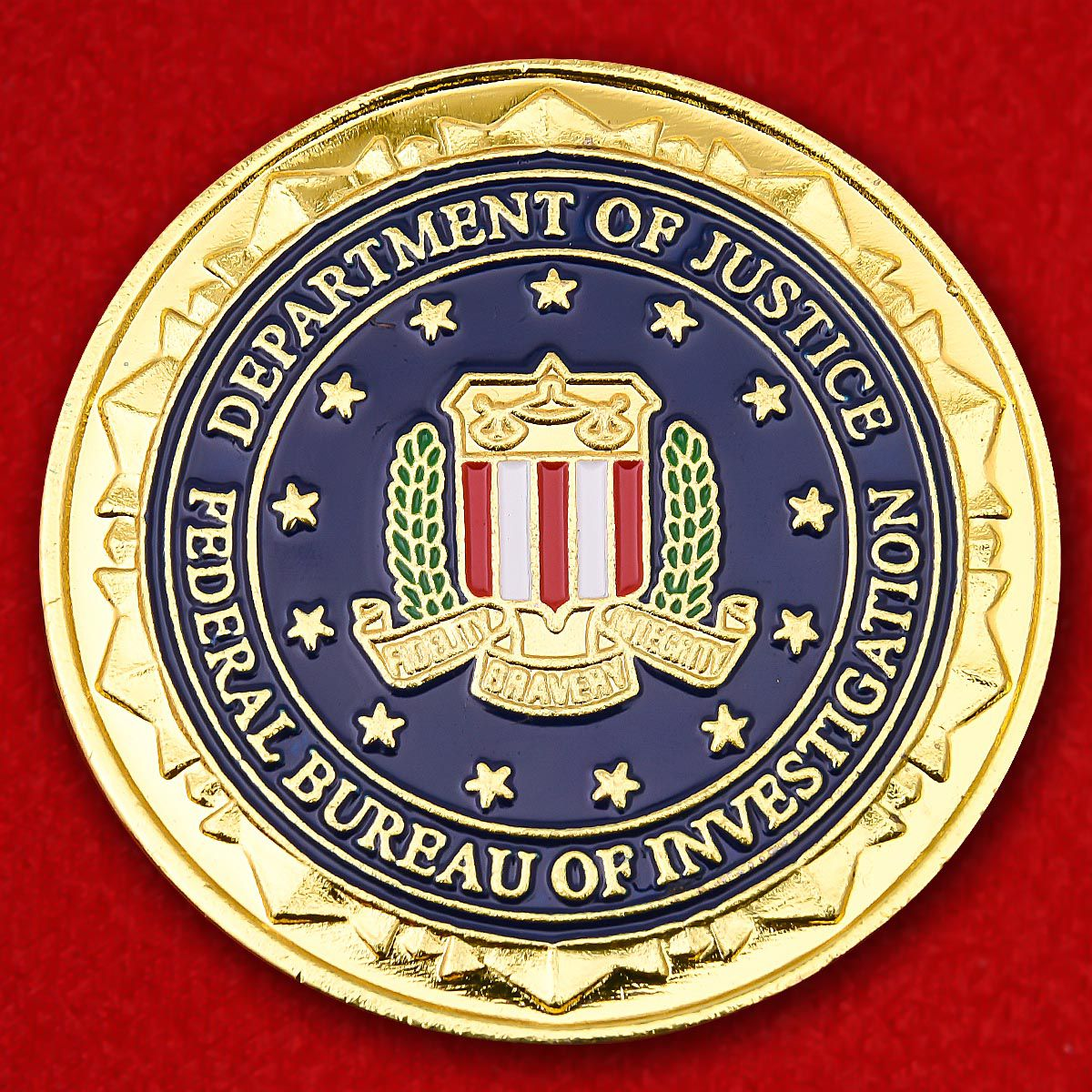 Department of Justice FBI Philadelphia Challenge Coin