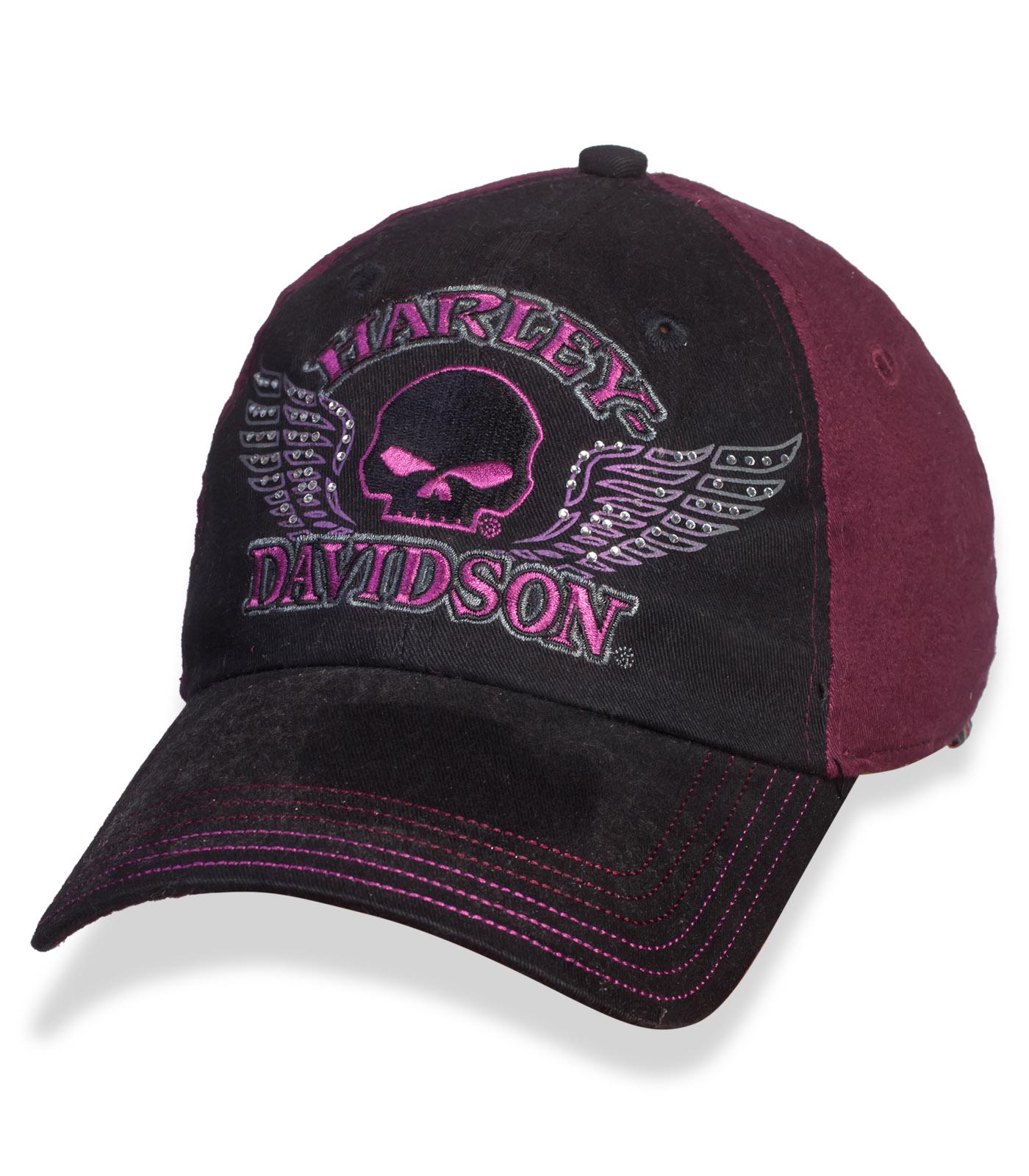 Крутая женская кепка с байкерской символикой