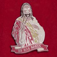 """Дерзкий скандальный дизайнерский значок Limited Edition от HM и Oilslick """"Он насмолит"""""""