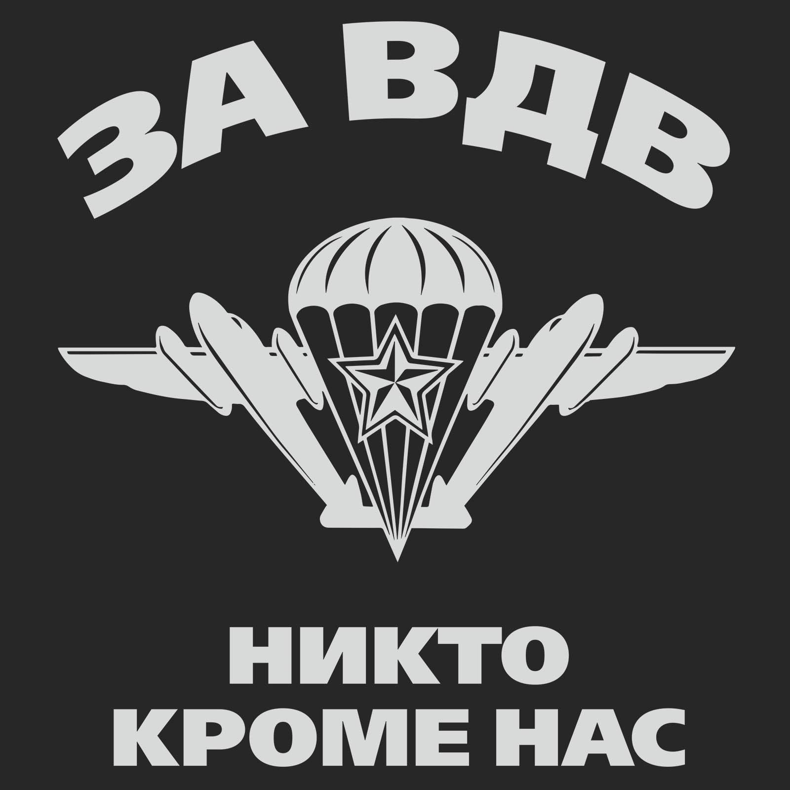 Десантная милитари футболка За ВДВ
