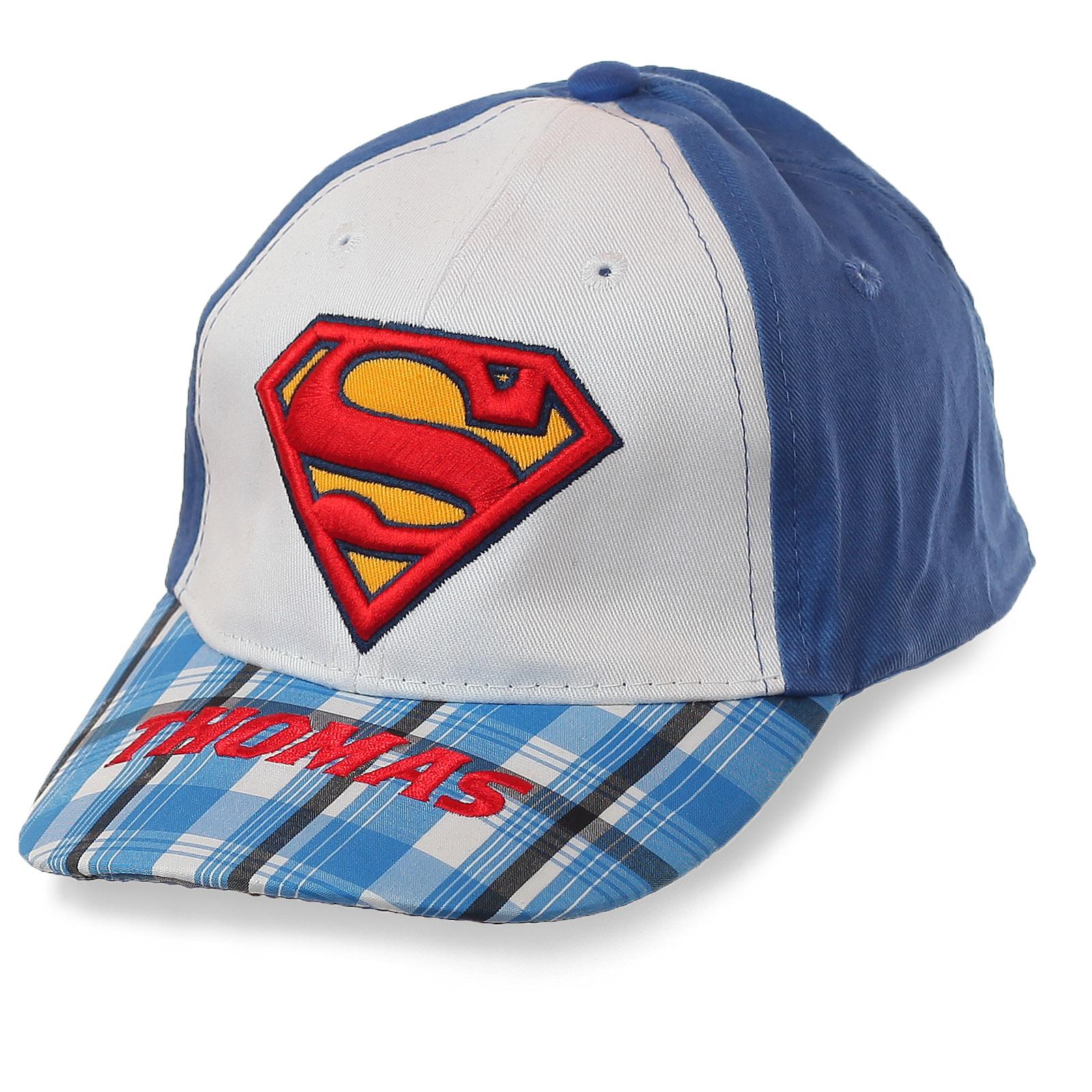 Детская бейсболка от ТМ THOMAS с логотипом кумира всех мальчишек – Супермена. Только для избранных!
