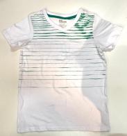 Детская белая футболка в полоску