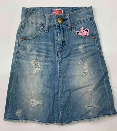 Детская джинсовая юбка с милым тигрёнком