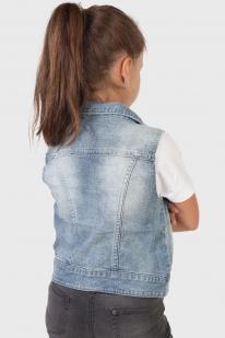Детская джинсовая жилетка
