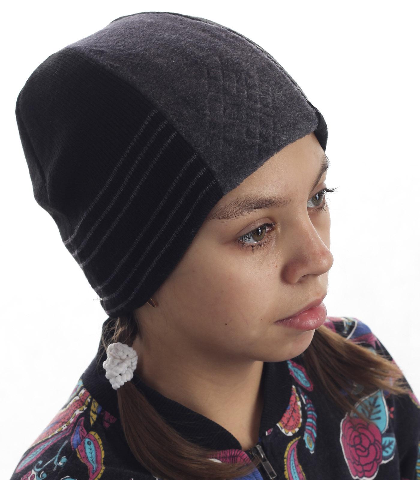 Детская флисовая шапка в городском стиле. Удачная повседневная модель, в которой тепло даже в самую холодную погоду