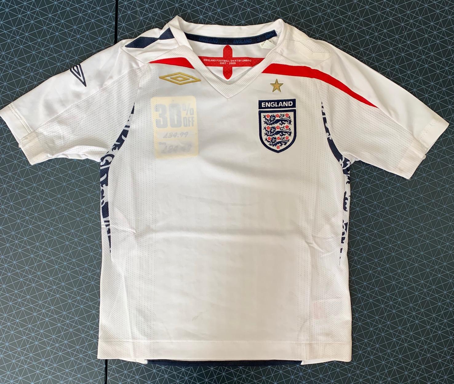 Детская футболка England светлого оттенка
