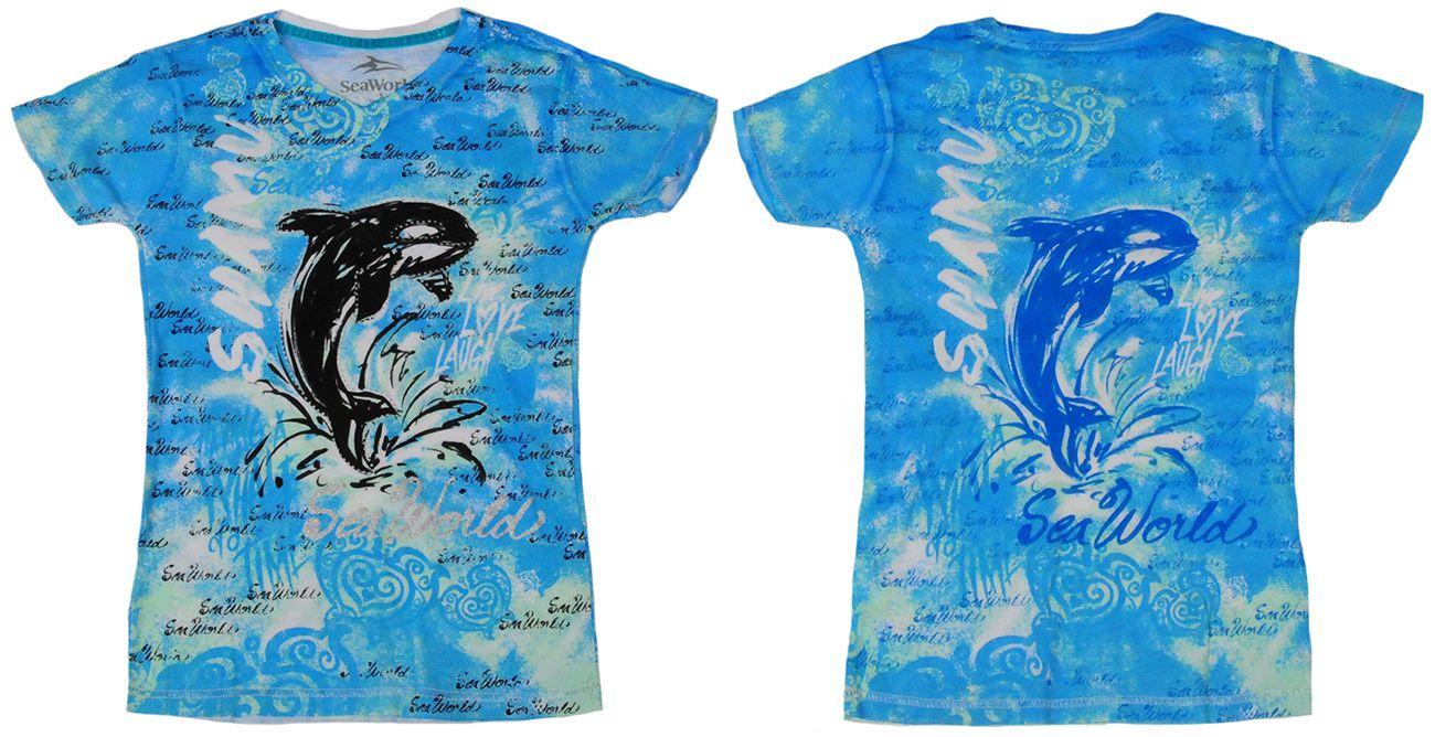 Детская футболка SeaWorld® Dolphin - вид сбоку