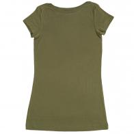 Детская футболка цвета хаки. Универсальная модель