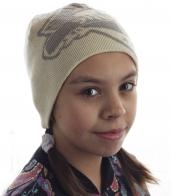 Детская шапка из мягкого материала удобной формы. Понравится юным модницам и родителям