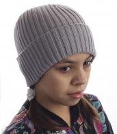 Детская шапка с подвротом. Практичная модель, которая не даст замерзнуть