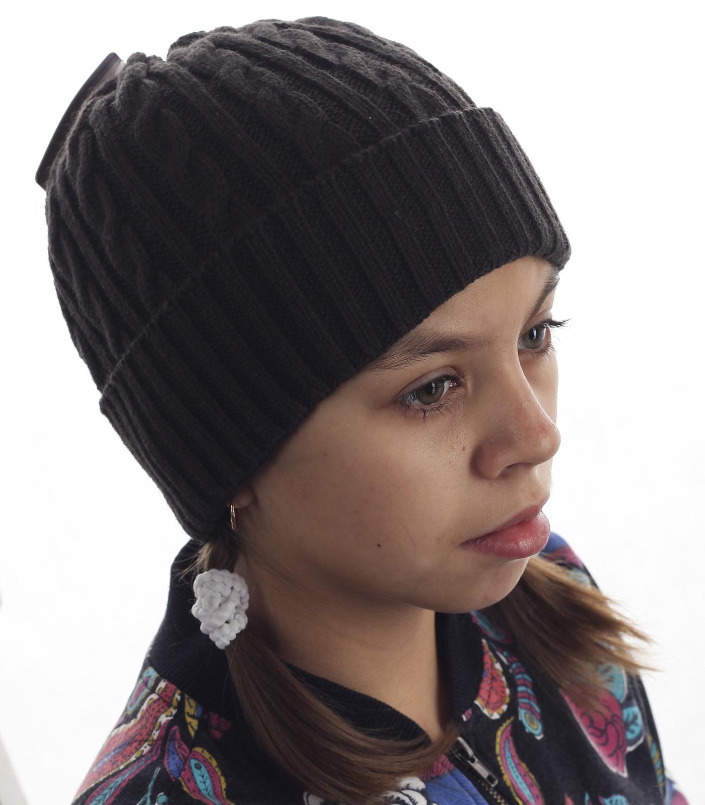 Детская вязаная шапка с традиционным рисунком. Удобная и актуальная модель