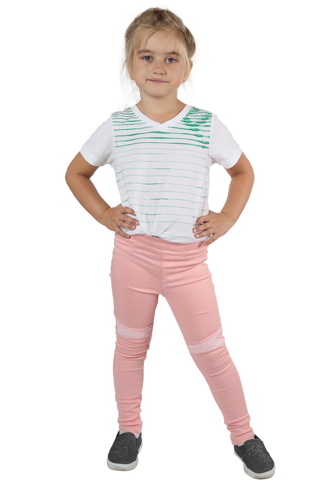 Розовые детские леггинсы по супер цене