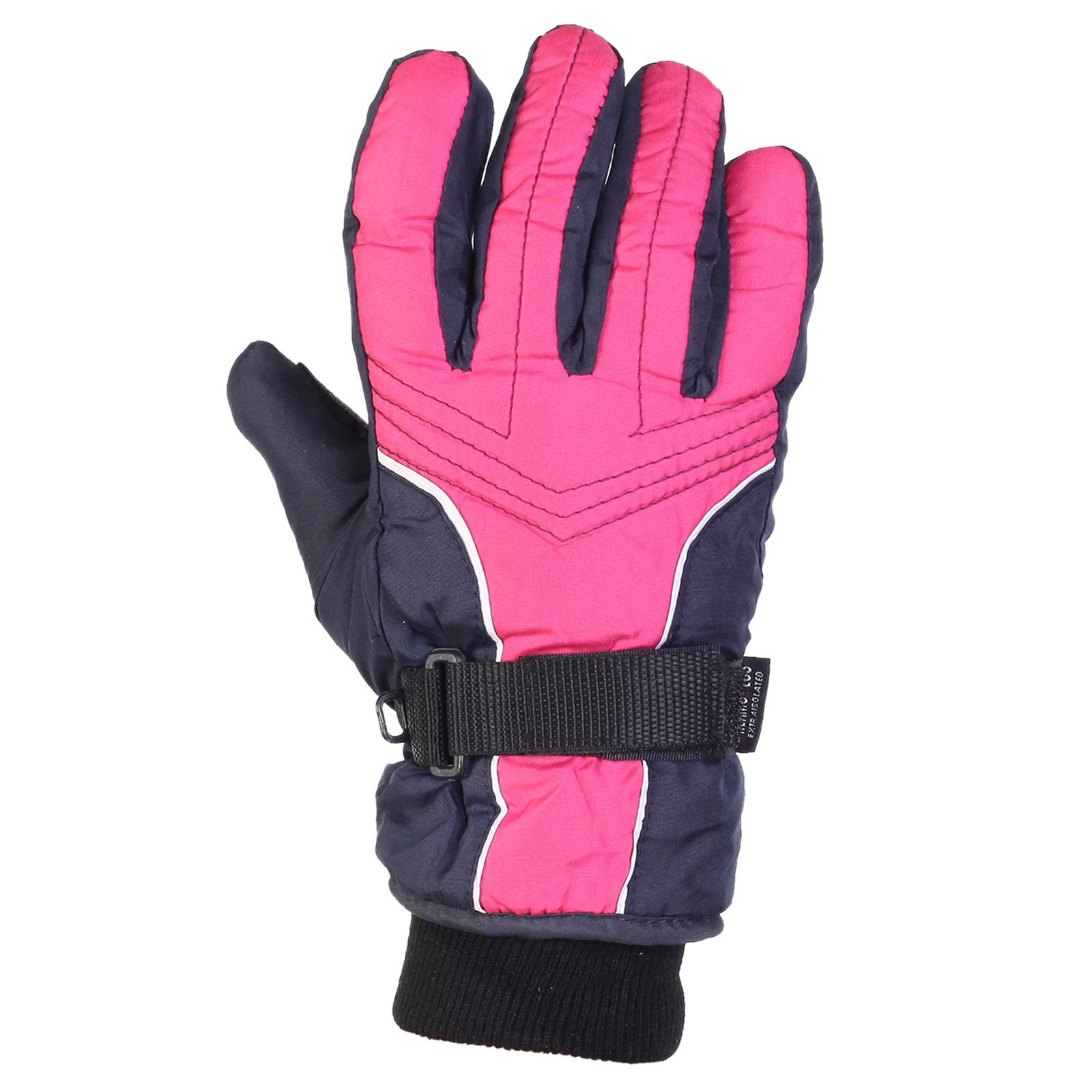 Женские лыжные перчатки с манжетами для девочек