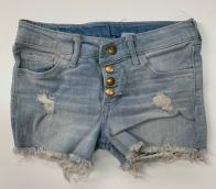 Детские шорты из джинсовой ткани с потертостями