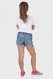 Детские джинсовые шорты с вышивкой