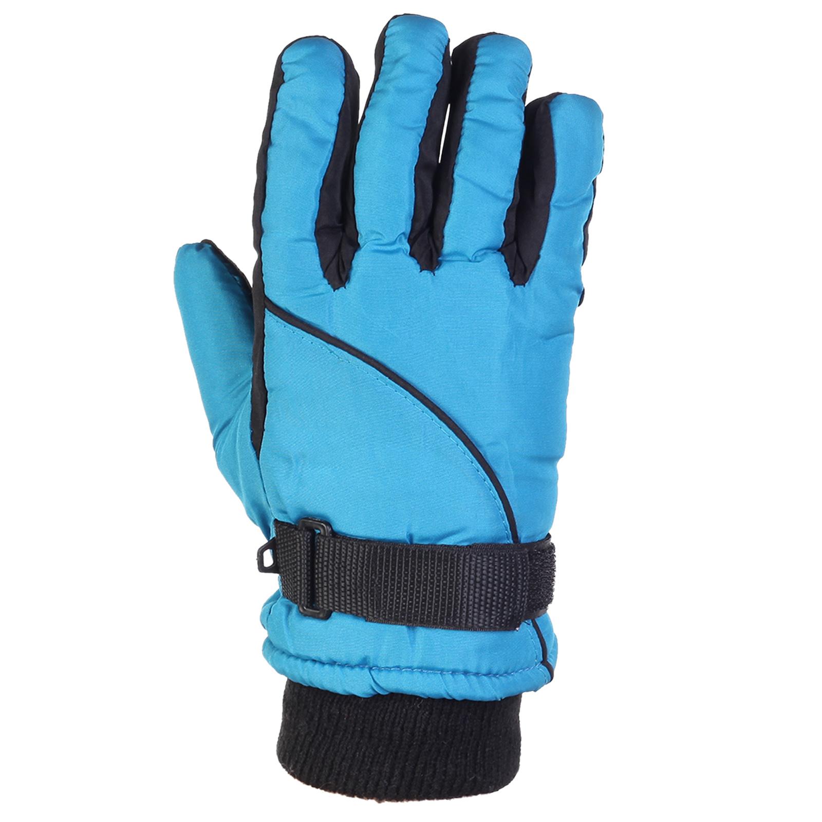 Купить недорого голубые перчатки на зиму для подростка