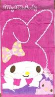 Детское розовое детское полотенце My Melody с зайкой