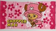Детское розовое полотенце Chopperman