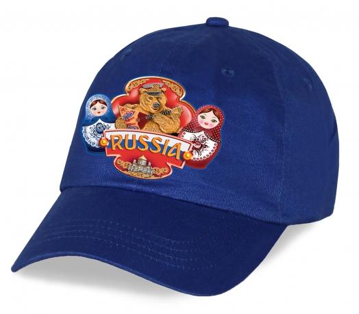 """Дизайнерская бейсболка """"Russia матрешки"""" из качественного хлопка. Комфортная и стильная модель, которая превзойдет ваши ожидания. Заказывайте!"""