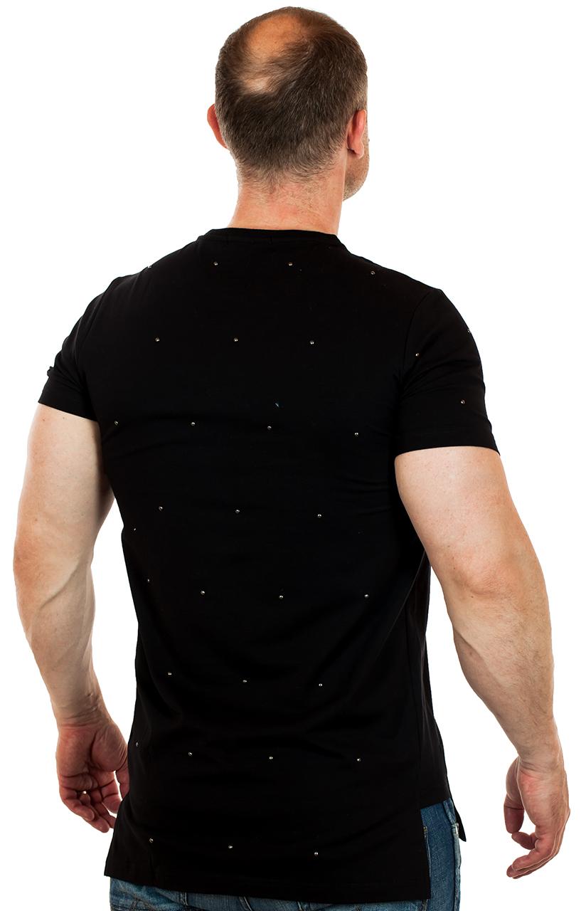 Дизайнерская футболка от ТМ SPLASH с хардкорными металлическими бусинами