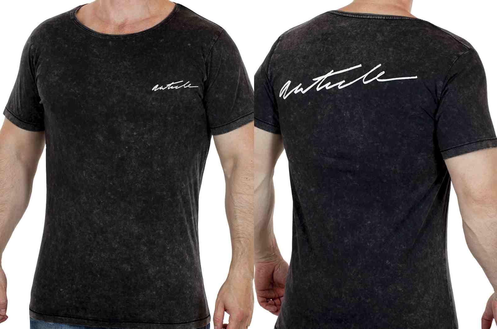 Дизайнерская мужская футболка ARTICLE-двойной ракурс