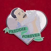 """Дизайнерский значок """"Фредди Меркури навсегда"""""""