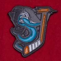 Дизайнерский значок хоккейного клуба НХЛ Сан-Хосе Шаркс от Freaky Clothing