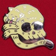 """Дизайнерский значок """"Коточереп"""" от Pin Pushers"""