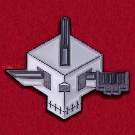 """Дизайнерский значок """"Кубический череп"""""""