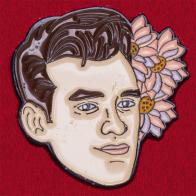 """Дизайнерский значок """"Моррисси"""" с лидером легендарной пост-панк группы The Smiths от бренда аксессуаров Sad Truth Supply"""