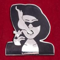 """Дизайнерский значок от Amant Mort """"Марла Сингер"""". Для фанатов Бойцовского клуба"""
