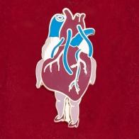 """Дизайнерский значок от Dirty Paper """"Анатомическое сердце"""""""