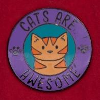 """Дизайнерский значок от DoodleCats """"Коты - наше все"""""""