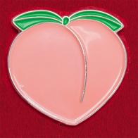 """Дизайнерский значок от Pintrill """"Эмоджи-персик"""""""
