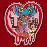 """Дизайнерский значок-сердечко """"Bloody Love"""""""
